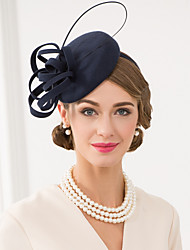 cheap -Wool Feather Fascinators Hats Headwear with Floral 1pc Wedding Special Occasion Casual Headpiece