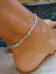 Women's Anklet/Bracelet Turquoise Alloy Simple Style Fashion Beaded European Handmade Costume Jewelry Cross Jewelry For Party Daily