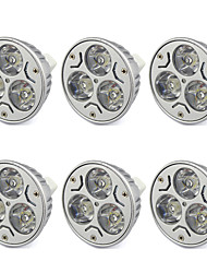 billiga -6pcs 3 W 250 lm MR16 LED-spotlights LED-pärlor Högeffekts-LED Varmvit / Kallvit 12 V / 6 st / RoHs