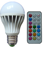 cheap -B22 E26/E27 LED Globe Bulbs A80 3 High Power LED lm RGB K Dimmable Remote-Controlled Decorative AC 85-265 V