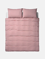 Stripe Duvet Cover Sets 4 Piece Cotton Contemporary Yarn Dyed Cotton Twin / Queen 1pc Duvet Cover / 2pcs Shams / 1pc Fitted Sheet