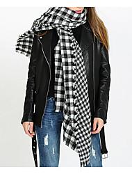 Women Faux Fur Scarf,Casual RectangleCheck