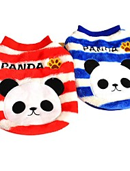 cheap -Stripe Design Panda Pattern Winter Vest for Pets Dogs (Assorted Sizes and Colours)