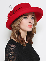 cheap -Women's Wool Bucket Hat,Vintage Party Casual Jacquard Spring Fall Winter