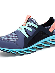 Women's Athletic Shoes Fall Winter Comfort PU Casual Flat Heel Lace-up Blue Purple Gray Khaki