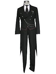 Inspired by Black Butler Cosplay Anime Cosplay Costumes Cosplay Suits Solid Vest Shirt Pants Gloves Necklace More Accessories Badge