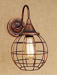 ac 110v-130V / 220V AC-240v 40w e27 simples B020 e criativa cor de ferrugem personalidade americano parede retro lâmpada de arandelas de