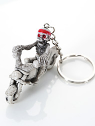 Europe And The United States High-Grade Quality Key Chain Creative Boutique Skeleton Ride A Motorcycle To Hang A Key Ring