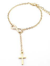 cheap -Anklet - Cross Personalized, Fashion, Cute Gold / Silver Bowknot For Daily / Casual / Women's
