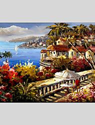 dipinti ad olio moderno materiale tela con vista sul mare, con telaio allungato pronta per essere appesa size60 * 90cm.