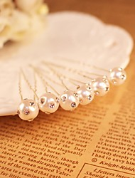 Imitation Pearl Rhinestone Alloy Flowers Head Chain Hair Pin Hair Stick Hair Tool Headpiece