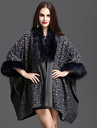 cheap -Women's Simple Casual Faux Fur Coat-Leopard