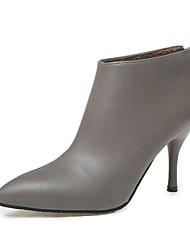 Støvler-PU-Komfort-Damer-Sort Grå Rød-Fritid-Lav hæl