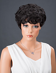 Short Full Bang Curly Synthetic Wigs