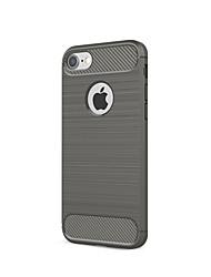 Para iPhone X iPhone 8 iPhone 7 iPhone 6 Capinha iPhone 5 Case Tampa Anti-poeira Capa Traseira Capinha Côr Sólida Macia Fibra de Carbono
