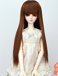 cheap -DIY Long Straight Brown Auburn Color Hair Wig 1/3 1/4 Bjd SD DZ MSD Doll Wig Accessories Not for Human Adult