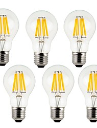 7W E26/E27 LED Filament Bulbs A60(A19) 8 leds COB 760lm Warm White Cold White 2700/6500K Decorative AC 220-240