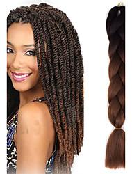 #33 Uncinetto Jumbo Extensions per i capelli 24 Kanekalon 1 filo 100g grammo capelli Trecce