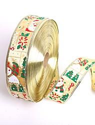 nouveaux 5cm * 200cm bonhomme de neige mignon ruban d'emballage père noël noël rubans cadeau arbre de Noël fête bricolage décoration fête