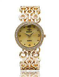 economico -Da donna Orologio alla moda Orologio da polso / Quarzo Lega Banda Fantastico Casual classe Argento Oro Oro rosa