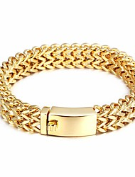 Men's Chain Bracelet Costume Jewelry Stainless Steel Gold Plated Jewelry For Party Anniversary Gift Daily Casual