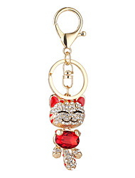 cheap -Keychain Jewelry Black Beige Purple Red Pink Alloy Animal Design Euramerican Cute Style Unisex