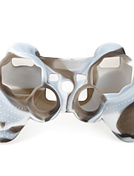 preiswerte -Schutz-Dual-Colour-Stil Silikon-Hülle für PS3 Controller (braun und weiß)