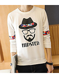 cheap -Men's Daily Casual 3D Print Round Neck Hoodie Regular, Long Sleeves Winter Fall Cotton