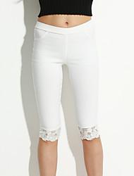 billige -Dame Plusstørrelser Skinny Jeans Bukser - Blonder