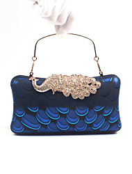 cheap -Women's Bags Poly urethane / PU Evening Bag Crystal / Rhinestone Wine / Golden / Royal Blue