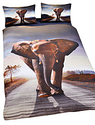 Duvet Cover Sets Animal 3 Piece Poly/Cotton Reactive Print Poly/Cotton 3pcs (1 Duvet Cover, 2 Shams)