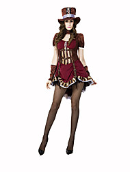 cheap -Ringmaster Circus Women's Christmas Halloween Carnival Children's Day New Year Oktoberfest Festival / Holiday Halloween Costumes Brown