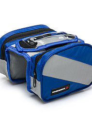 baratos -Bolsa de Bicicleta Bolsa para Quadro de Bicicleta Lista Reflectora Prova-de-Água Respirável Multifuncional Sensível ao Toque Telefone