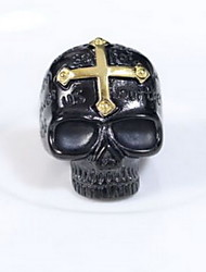 Men's Women's Couple Rings Ring Jewelry European Statement Jewelry Personalized Stainless Steel Titanium Steel Skull Jewelry For Halloween