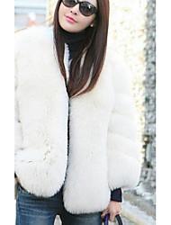 baratos -Mulheres Casaco de Pêlo Simples - Sólido