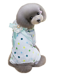 cheap -Dog Coat Hoodie Jumpsuit Dog Clothes Cute Keep Warm Polka Dot Beige Blue Costume For Pets