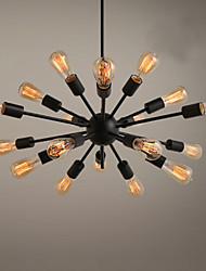 cheap -Chandelier ,  Traditional/Classic Painting Feature for Designers Metal Living Room Bedroom Study Room/Office Game Room