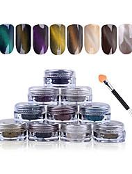abordables -1 Engomada del arte del clavo Brillante & Polvo maquillaje cosmético Nail Art