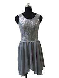 cheap -Ballet Dresses Women's Children's Performance Nylon Chiffon Sequined Lycra Sequins 1 Piece Sleeveless Dress