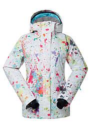 GSOU SNOW Skijacke Damen Skifahren Winter Sport Wasserdicht warm halten Windundurchlässig UV-resistant tragbar Atmungsaktiv Polyester