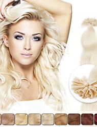 neitsi 20 polegadas 1g / s 100g fusão da queratina u unha ponta weavy naturais extensões de cabelo humano
