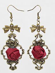 Boucle Boucles d'oreille goutte Bijoux Femme Mariage / Soirée / Quotidien / Décontracté Alliage 1 paire Rouge / Rose Bonbon / Regency