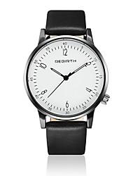 abordables -REBIRTH Hombre Reloj de Pulsera Gran venta / / Piel Banda Casual / Moda / Minimalista Negro / Blanco / Dos año / Mitsubishi LR626