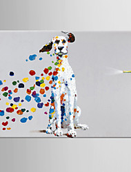 cheap -Oil Painting Hand Painted - Pop Art Classic Modern Canvas