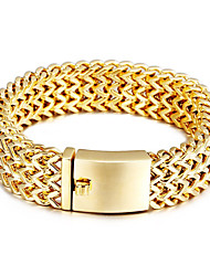 Men's Chain Bracelet Costume Jewelry Stainless Steel Gold Plated Jewelry For Party Anniversary Birthday Gift Daily Casual