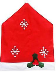 Недорогие -1шт рождественские украшения нетканое снежинки крышки стула 50 * 65см