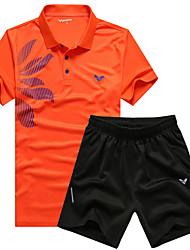 Per uomo T-shirt e pantaloncini da corsa Manica corta Asciugatura rapida Traspirante Set di vestiti per Esercizi di fitness Attività