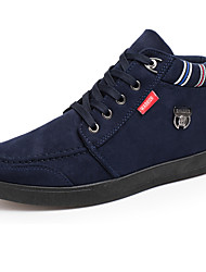 cheap -Men's Shoes Suede Spring / Fall Comfort Sneakers Black / Blue