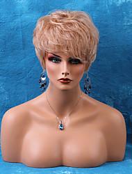 Недорогие -очаровательный короткий монолитным парики естественные прямые человеческие волосы