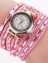 Xu™ Dámské Módní hodinky Náramkové hodinky Křemenný PU Kapela Retro Běžné nošeníČerná Bílá Červená Hnědá Zelená Růžová Námořnická modř